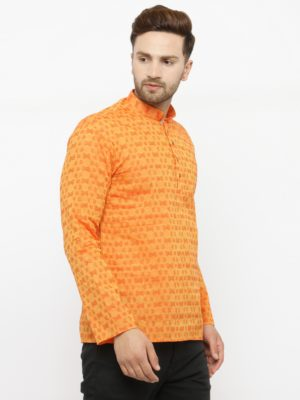 damru orange kurta