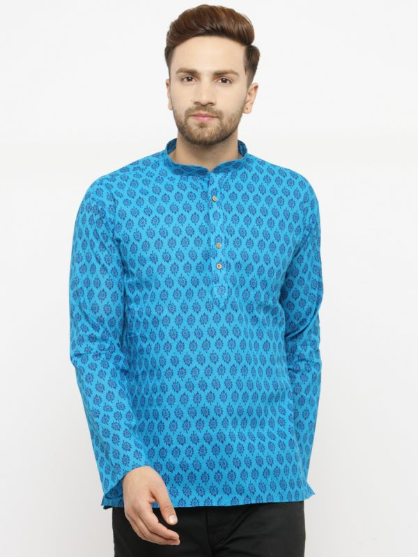 leafe blue kurta
