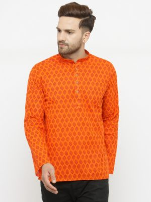 kurta leafe orange