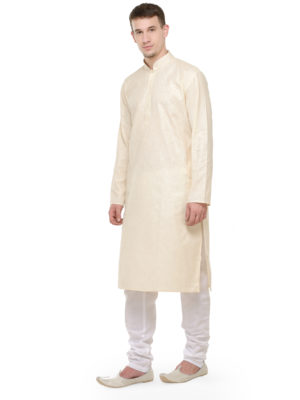 kurta pajama set cream