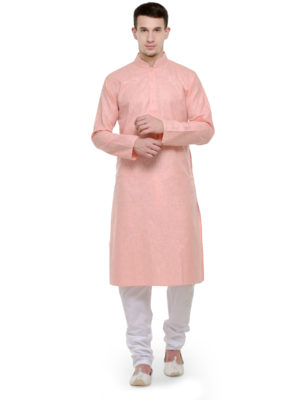 Light peach kurta set