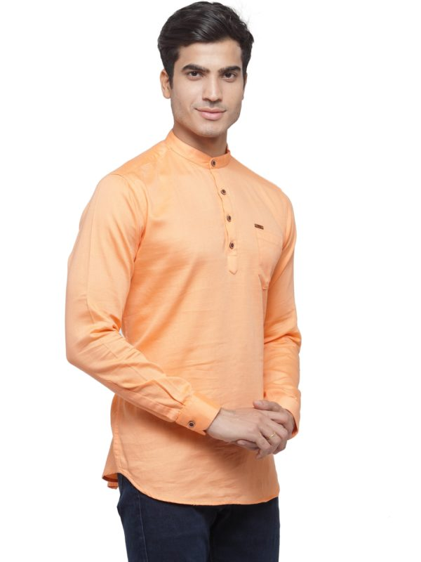solid peach kurta