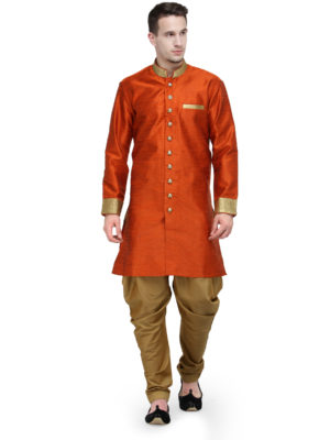 orange sherwani