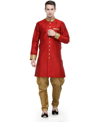 red sherwani