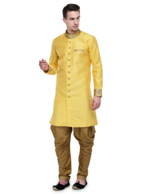 sherwani yellow