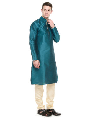 dark rama kurta set