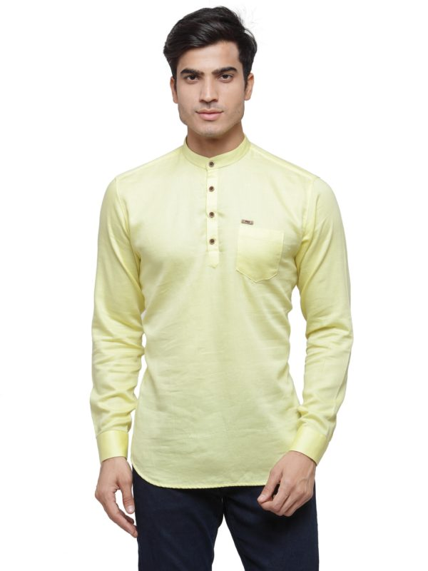 lemon kurta solid