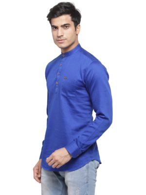 solid royal blue kurta